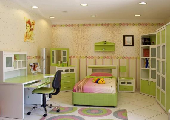 Creative Green Kids Room Picture