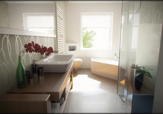 Retro Trendy Small Bathroom Inspirational Design
