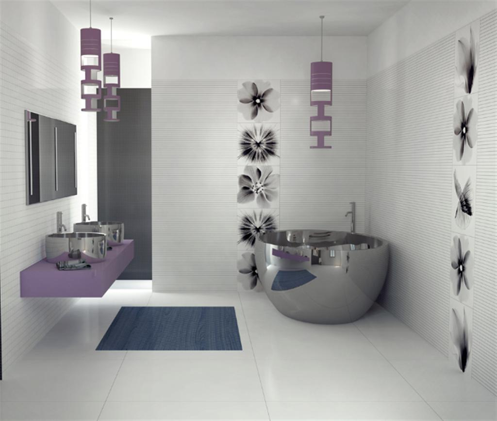 Fabulous Contemporary Bathroom Wallpaper Home Design Ideas | Design Pics QE63
